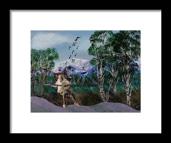 Landscapes Framed Print featuring the painting My Lady by Julia Ellis
