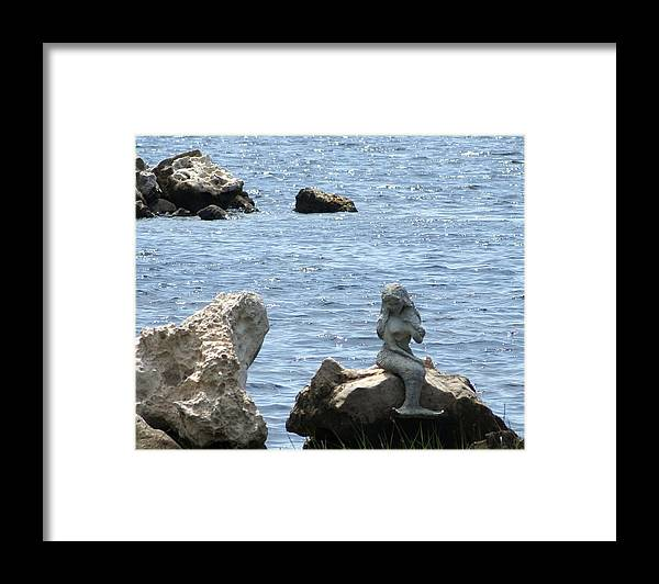 Mermaid Framed Print featuring the photograph My Lil Mermaid One by Debbie May