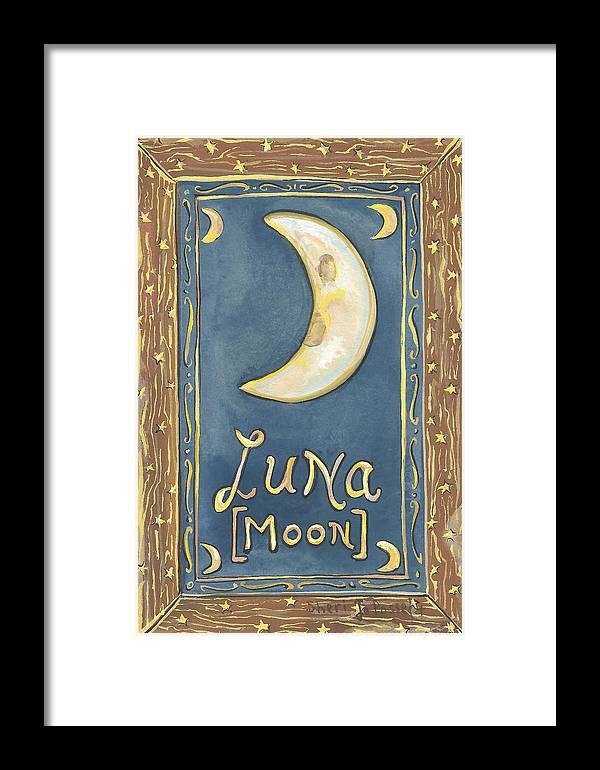 Luna Framed Print featuring the painting My Luna by Sheri Jo Posselt