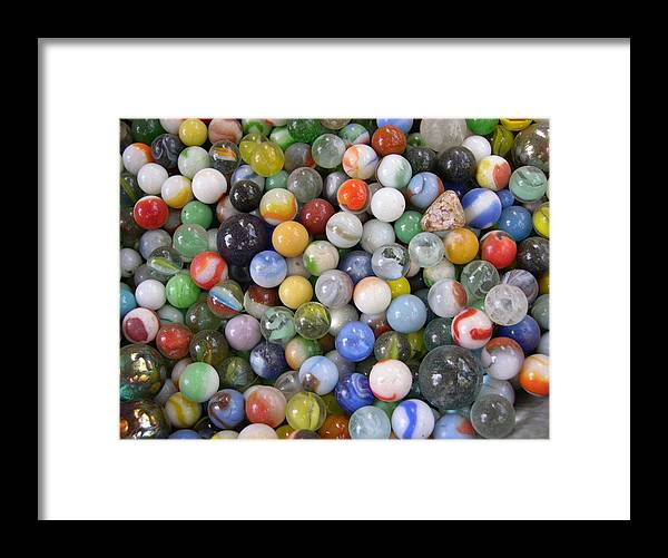 Photo Framed Print featuring the photograph My Marble Collection by Rebecca Marona