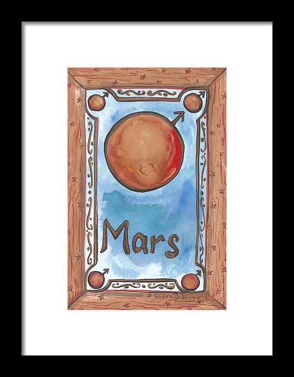 Mars Framed Print featuring the painting My Mars by Sheri Jo Posselt