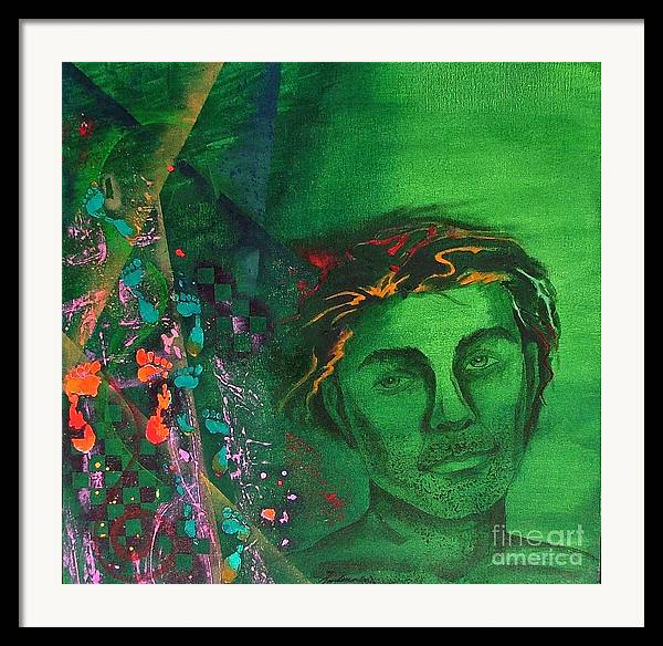 Semi-abstract Framed Print featuring the painting My Meanderings by Padmakar Kappagantula