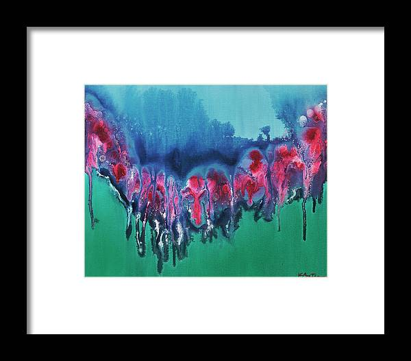 Abstract Framed Print featuring the painting My Melted Heart by KBatsonArt