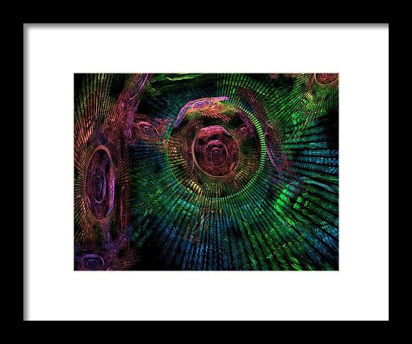 Fractal Framed Print featuring the digital art My Mind's Eye by Lyle Hatch