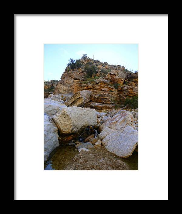 Tucson Framed Print featuring the photograph My Mountain Hiking Spot by Teresa Stallings