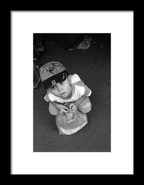 Photographer Framed Print featuring the photograph My New Cap by Jez C Self
