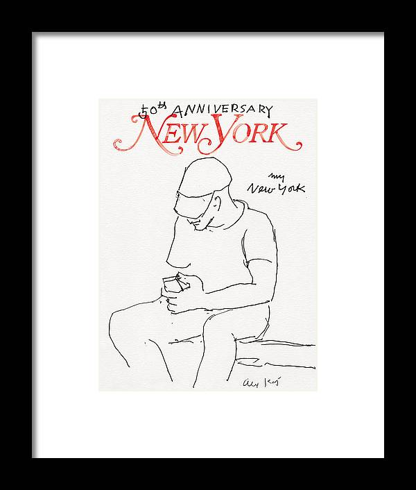 New York Magazine Framed Print featuring the drawing My New York by Alex Katz