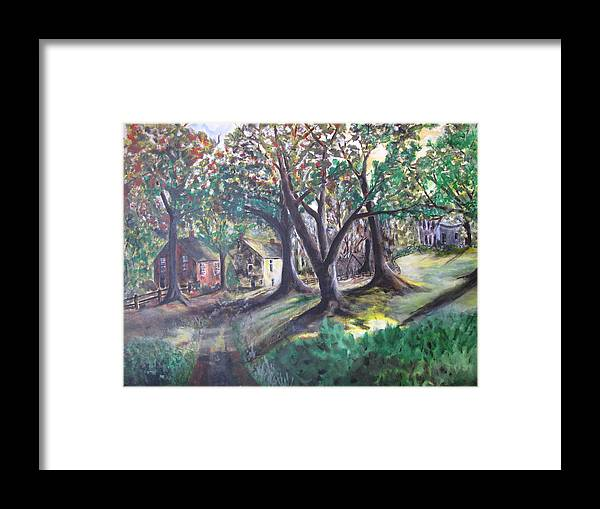 Abstract Framed Print featuring the painting My Old Southern Plantation Home by Gary Smith