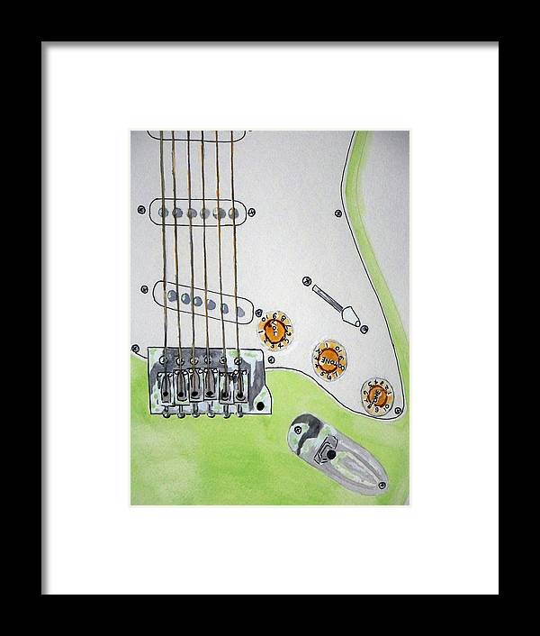 Guitar Art Framed Print featuring the painting My Other Passion by Larry Wright