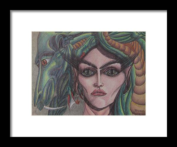 Sci-fi Framed Print featuring the painting My Pet by Joshua Armstrong