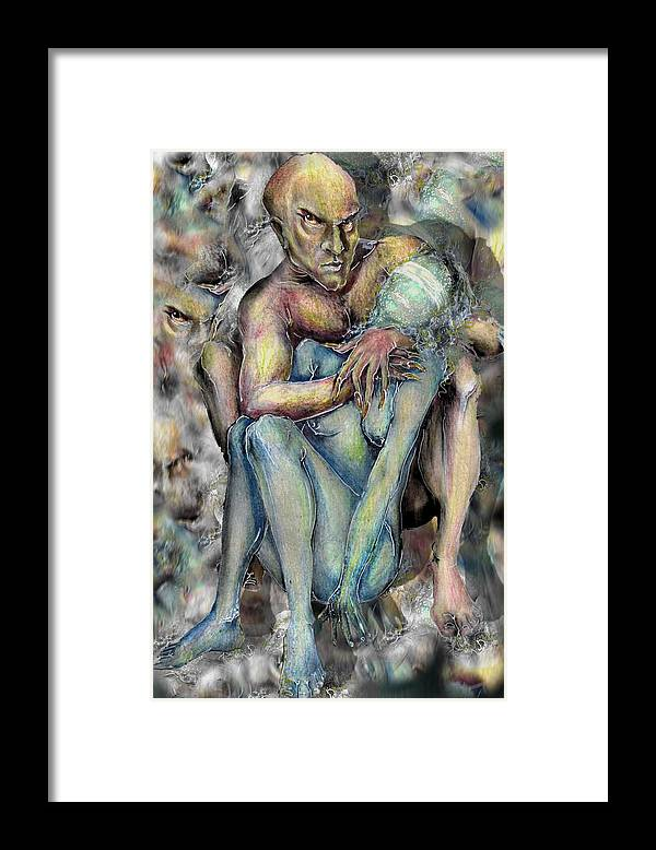 Demons Love Passion Control Posession Woman Lust Framed Print featuring the mixed media My Precious by Veronica Jackson