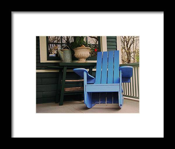 Rocker Framed Print featuring the photograph My Rocker by Tom Herrin