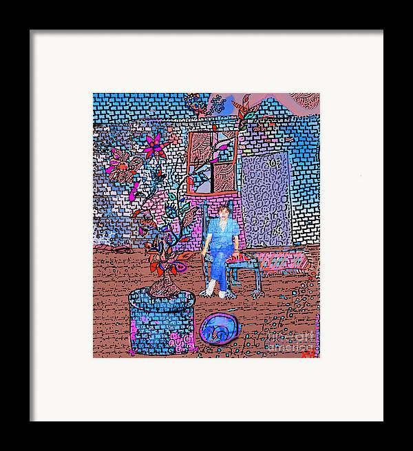Abstract Framed Print featuring the digital art My Room by Joyce Goldin