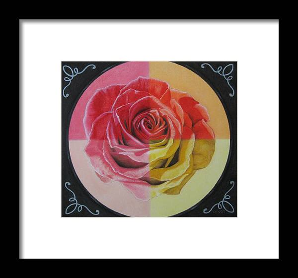 Rose Framed Print featuring the painting My Rose by Lynet McDonald