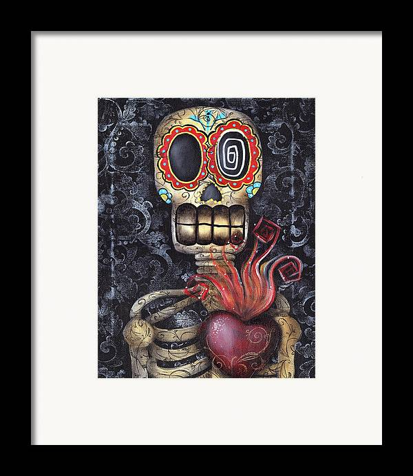 Sacred Heart Framed Print featuring the painting My Sacred Heart by Abril Andrade Griffith