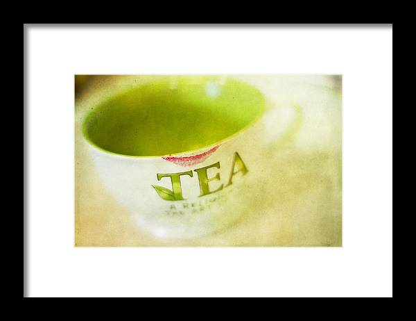 Tea Framed Print featuring the photograph My Second Favorite Beverage by Rebecca Cozart