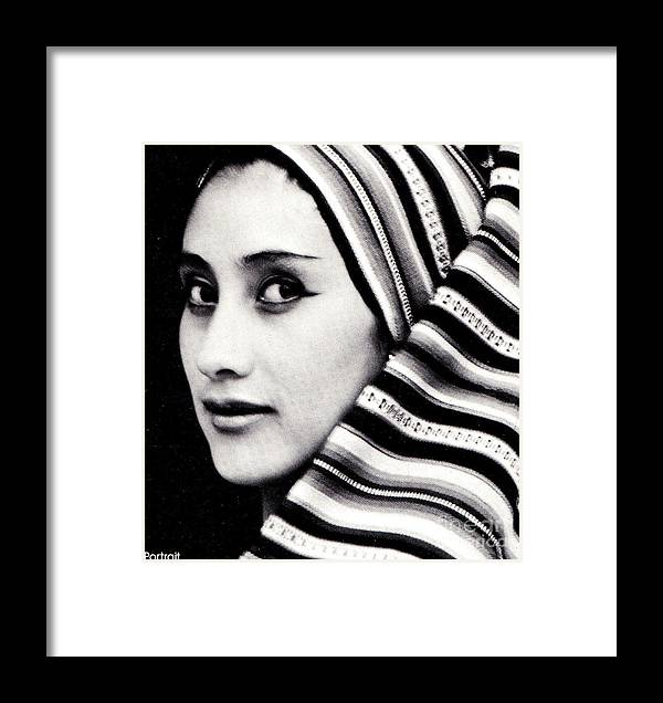 Woman Framed Print featuring the photograph My Sister Rosa by Alfredo Da Silva