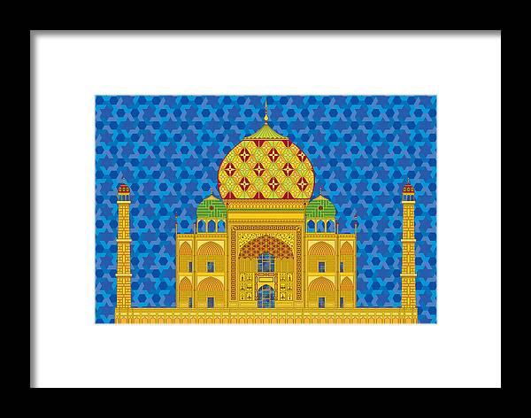 Taj Mahal Framed Print featuring the digital art My Taj Mahal by Vlasta Smola