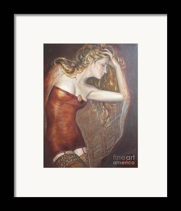 Ignatenko Framed Print featuring the painting My Talisman by Sergey Ignatenko