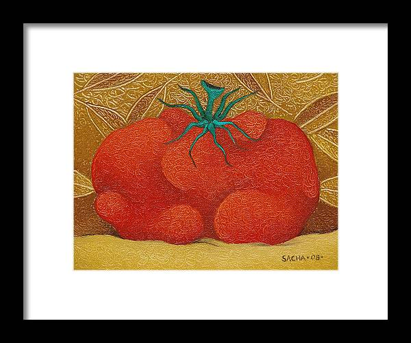 Sacha Framed Print featuring the painting My Tomato 2008 by S A C H A - Circulism Technique