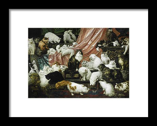 Carl Kahler Framed Print featuring the painting My Wife's Lovers by Carl Kahler