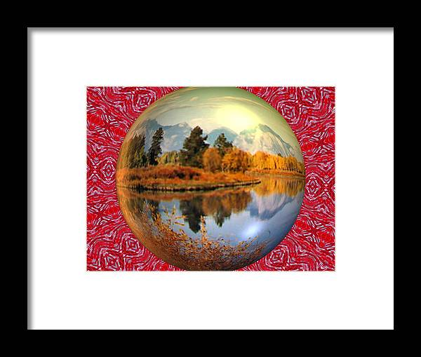 Abstract Digital Art Framed Print featuring the photograph My World by Guillermo Mason