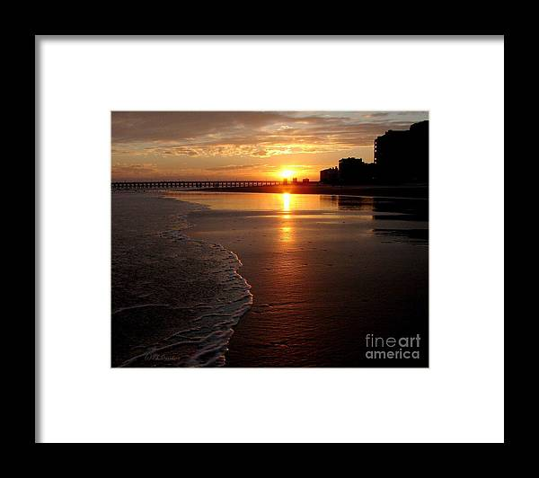 Sunset Framed Print featuring the photograph Myrtle Beach Sunset by Patricia L Davidson