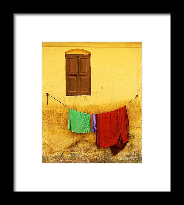 Window Framed Print featuring the photograph Mysore Wall by Derek Selander