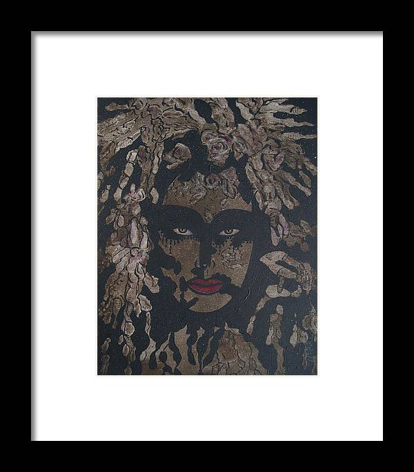 Figurative Framed Print featuring the painting Mysterious Desire by Natalie Holland