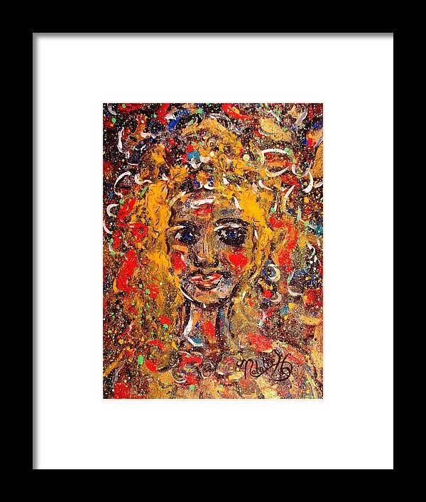 Impressionism Framed Print featuring the painting Mysterious Eyes by Natalie Holland