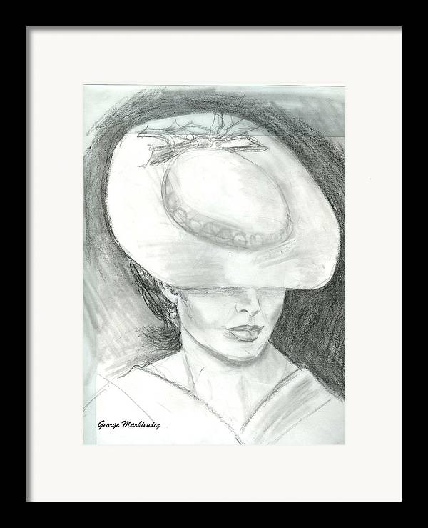 Woman Of Mystery Framed Print featuring the print Mysterious by George Markiewicz