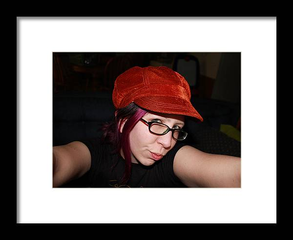 Hat Framed Print featuring the photograph Mysterious Stare by DankLilli Art And Photography