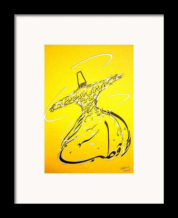 Mystic Dancer Framed Print featuring the painting Mystic Dancer In Yellow by Faraz Khan