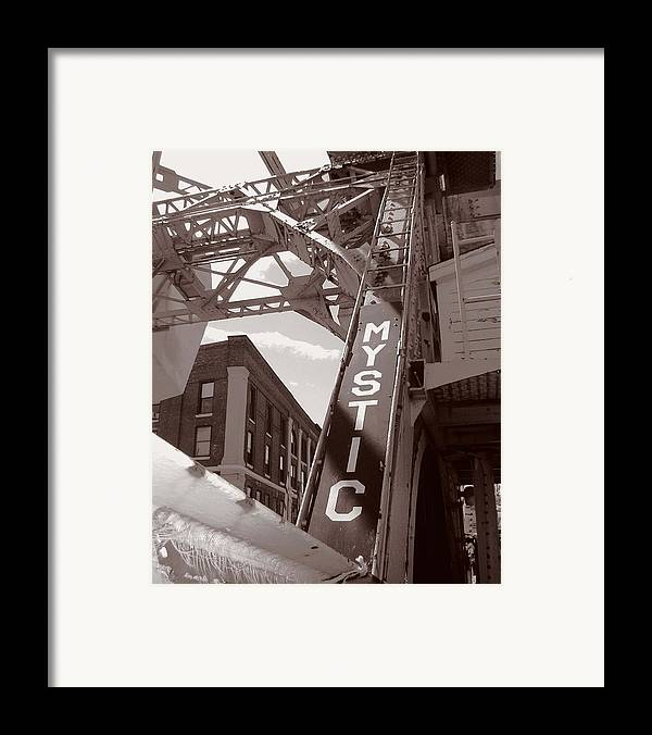 Mystic Framed Print featuring the photograph Mystic Drawbridge by Heather Weikel