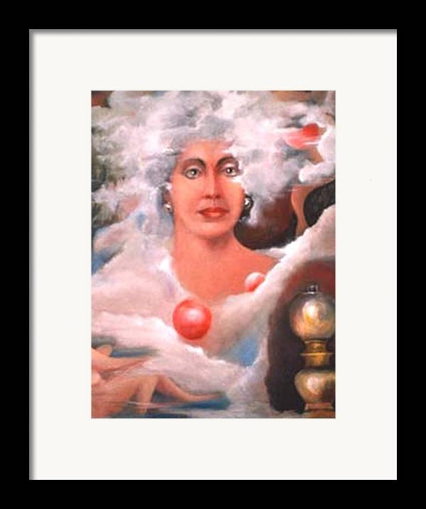 Woman Artwork Framed Print featuring the painting Mystic by Jordana Sands