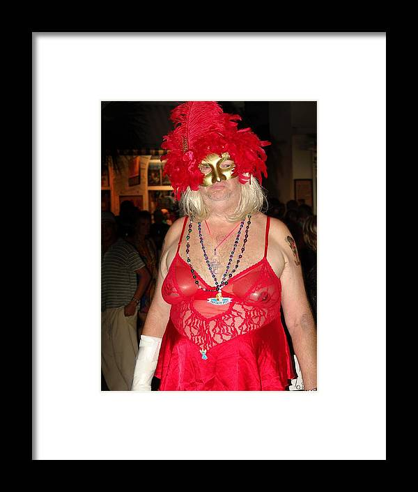 Drag Framed Print featuring the photograph Mystic Masquerade For Linda Daughter Of Munger by John Toxey