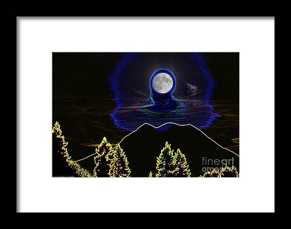 Washington Framed Print featuring the photograph Mystic Moon by Larry Keahey