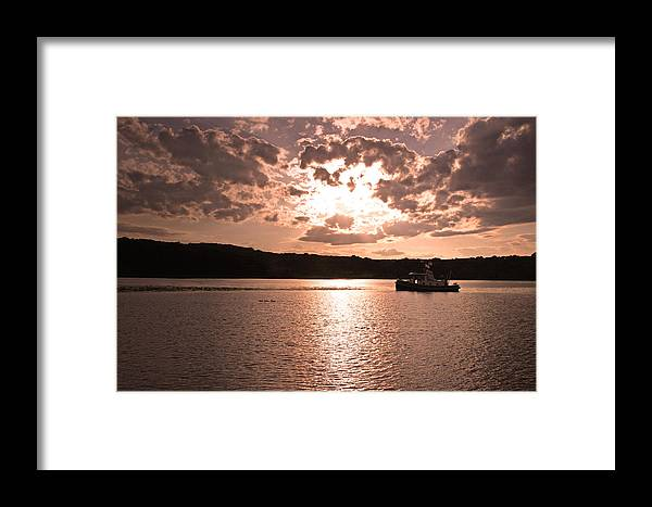 Mystic Framed Print featuring the photograph Mystic Sunset by Brian M Lumley