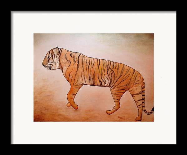 Animal Framed Print featuring the painting Mystic Tiger by Scott Plaster