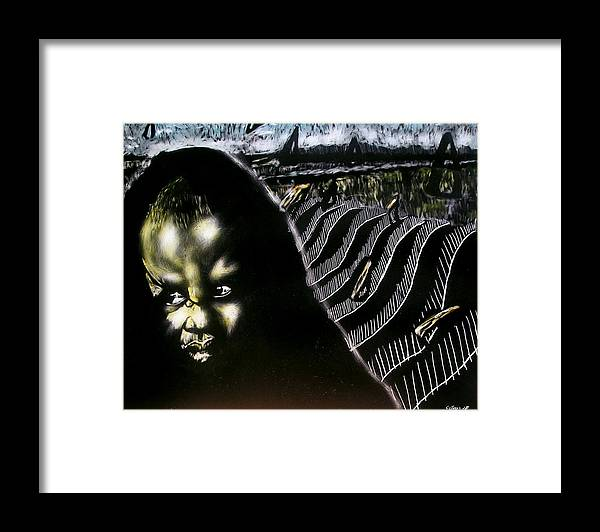 Framed Print featuring the mixed media Mystic Waves by Chester Elmore
