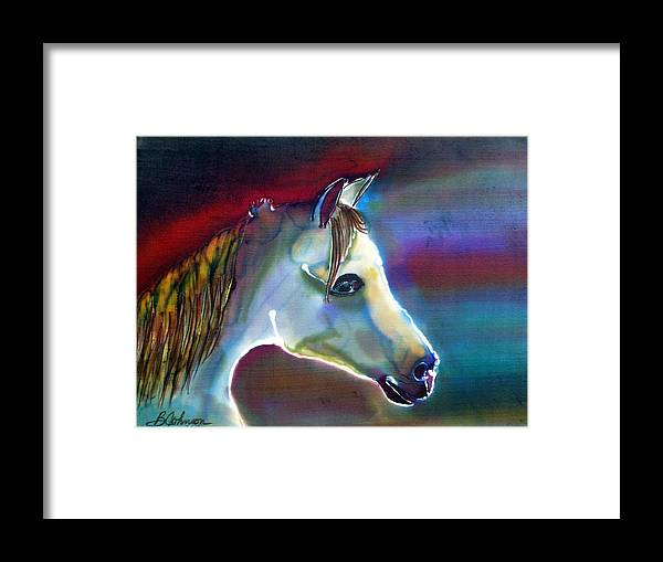 Horse Framed Print featuring the painting Mystical by Beverly Johnson