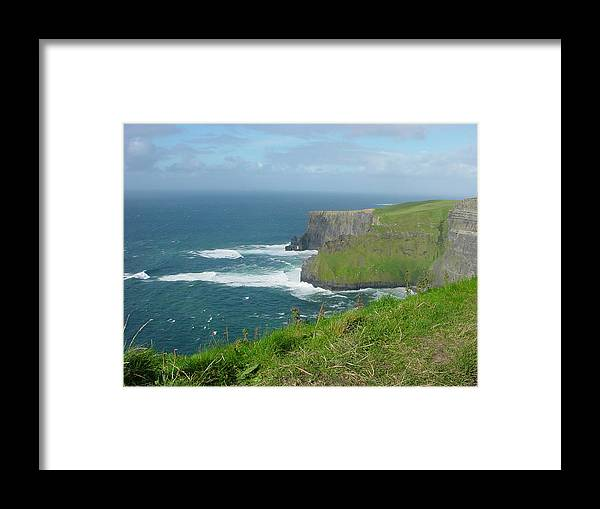 Cliffs Of Mohr Framed Print featuring the photograph Mystical Cliffs by PJ Cloud