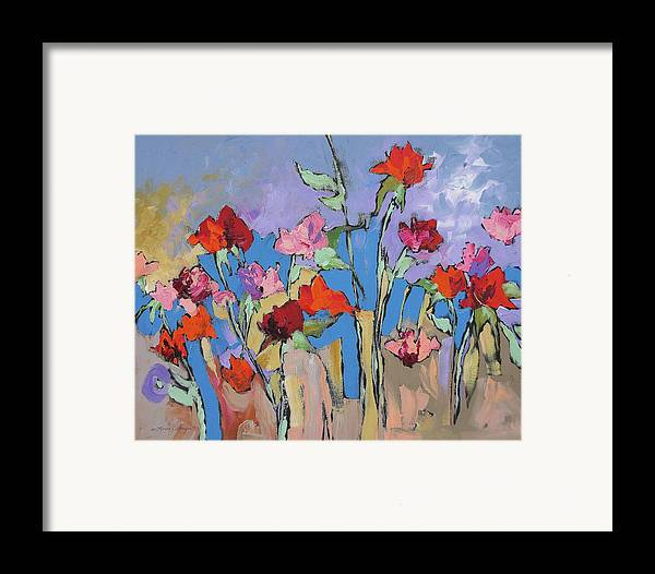 Garden Framed Print featuring the painting Mystical by Linda Monfort
