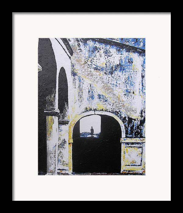 Tunnel Framed Print featuring the painting Mystical Moment by Ricklene Wren