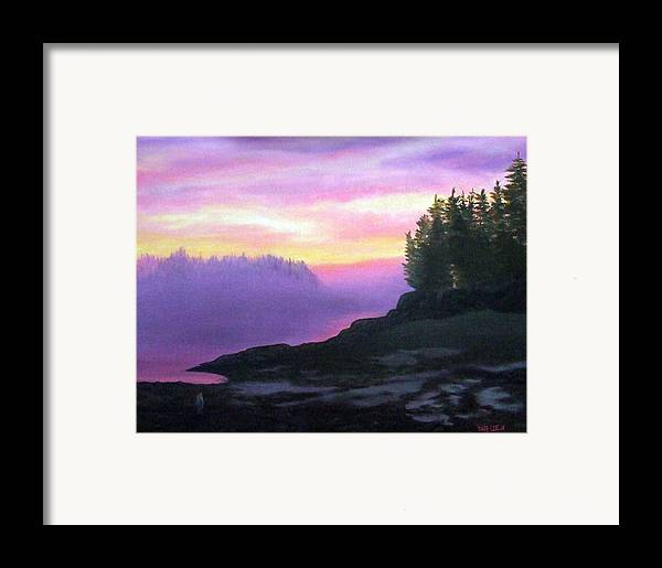 Sunset Framed Print featuring the painting Mystical Sunset by Sharon E Allen
