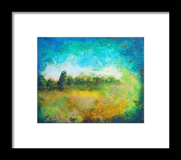 Framed Print featuring the painting Mystical Trees by Joya Paul