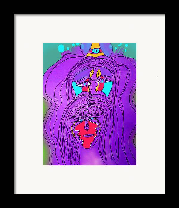 Framed Print featuring the drawing Mystics by Betty Roberts