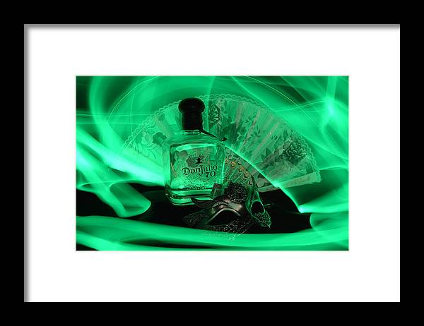 Bottle Framed Print featuring the photograph Mystique Green by Paulina Roybal