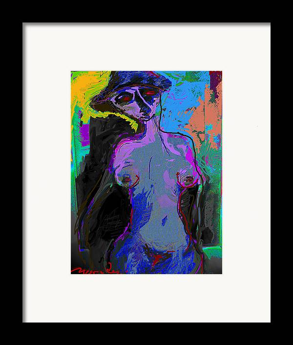 Colors Framed Print featuring the painting Mystry Of The Solar Eyes by Noredin Morgan