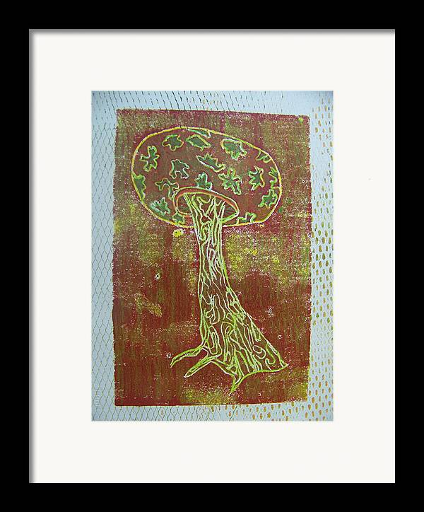 Organic Framed Print featuring the painting Myxomycetes 3 by Angela Dickerson